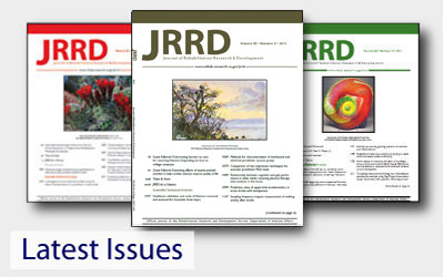 JRRD Recent Issues